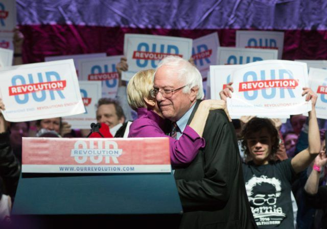 """Bernie's Revolution is joined by Senator Elizabeth Warren in Boston - Here is the winning combination that the Dems failed to see all along. It was never """"status quo"""" Clinton but rather Warren/Sanders who held the key to success. Too many Dems were """"stuck in a time warp"""" & now the belated """"catch-up""""! The Dems have to """"pull in behind"""" these two - fast ! Make it happen !"""