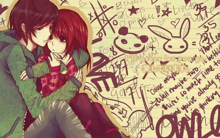 cute Love couple Hd Wallpaper Animated : Anime Love couples Anime Wallpapers HD 3D Anime couple Wallpapers Pinterest Anime love ...
