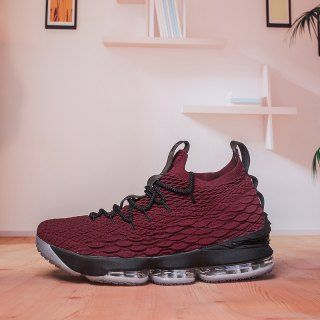 7c994e2bece Dazzling Nike Lebron 15 XV Burgundy Black Men s Sneaker Basketball Shoes  James Shoes