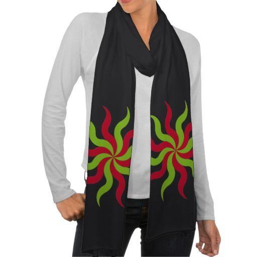 Coloridas formas patrón abstracto flores. Regalos, Gifts. #scarf #bufanda