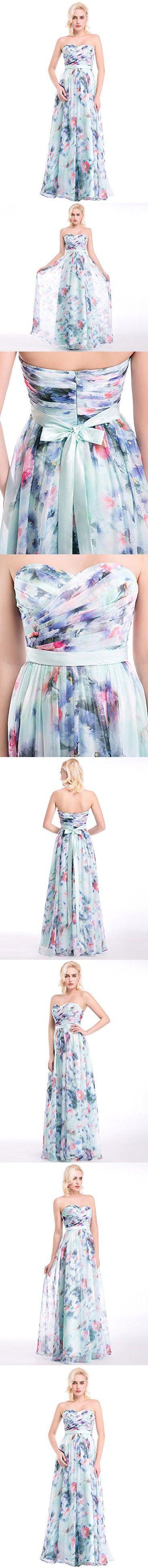 Azbro Women's Floral Print High Waist Corset Prom Dress, Multicolored XXL