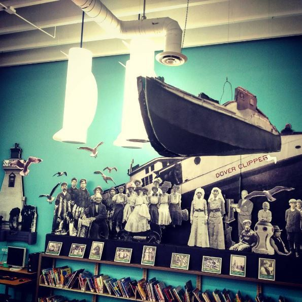 This #3D piece, located at our #PortDover Branch, was created by Ian Bell, using images from the Port Dover Harbour Museum