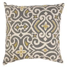New Damask Polyester Throw Pillow