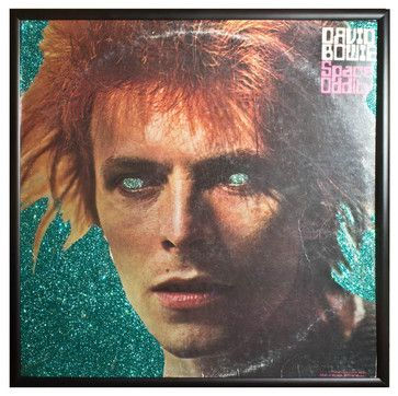 Glittered David Bowie 'Space Oddity' Album - eclectic - Sports And Game Room Memorabilia - mmm designs
