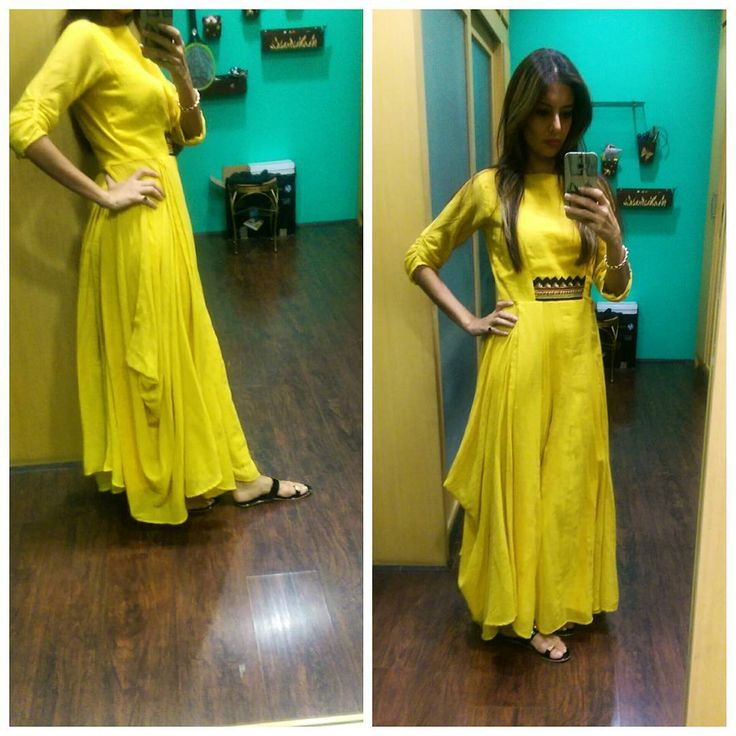 "97 Likes, 14 Comments - shweta Malpani (@6shweta) on Instagram: ""Simple and super comfortable cottons..outfit from @sunainasood  #yellow #cotton #maxi #sunshine…"""