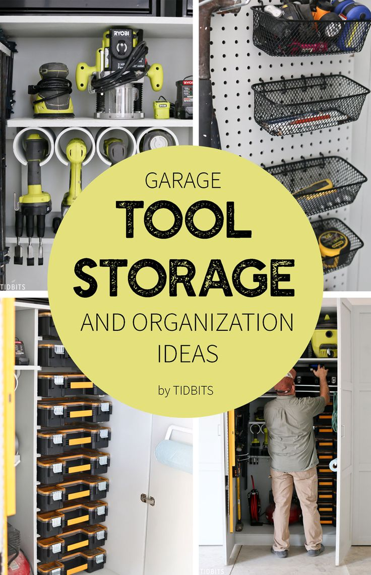 Go ahead and drool, dream, and desire a place where all your tools are organized and easily accessible . . . then go out and create one! Sharing our garage tool storage and organization ideas to get you started.