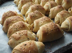 Skinkehorn med pikantost | Opskrift på skinkehorn til madpakkerne