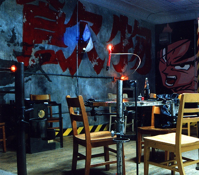 Cyberpunk anime coffee house interior design and home for Sci fi home decor