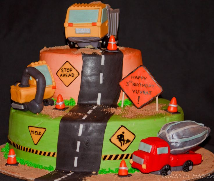 Construction Theme Cakes   Construction-themed cake   Baked In Heaven