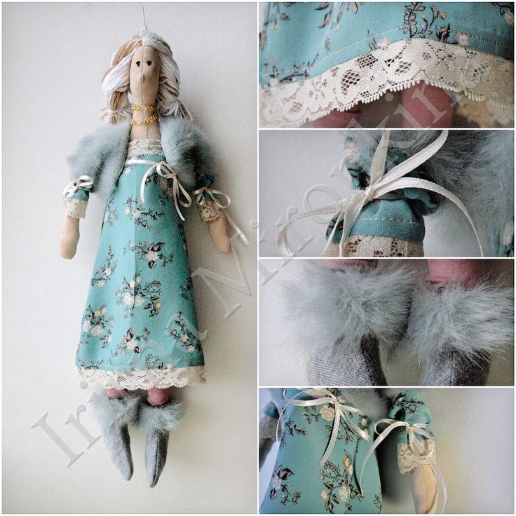 Изделие: Кукла Тильда Материал: шелк, хлопок, искусственный мех, кружево винтажное, бисер японский