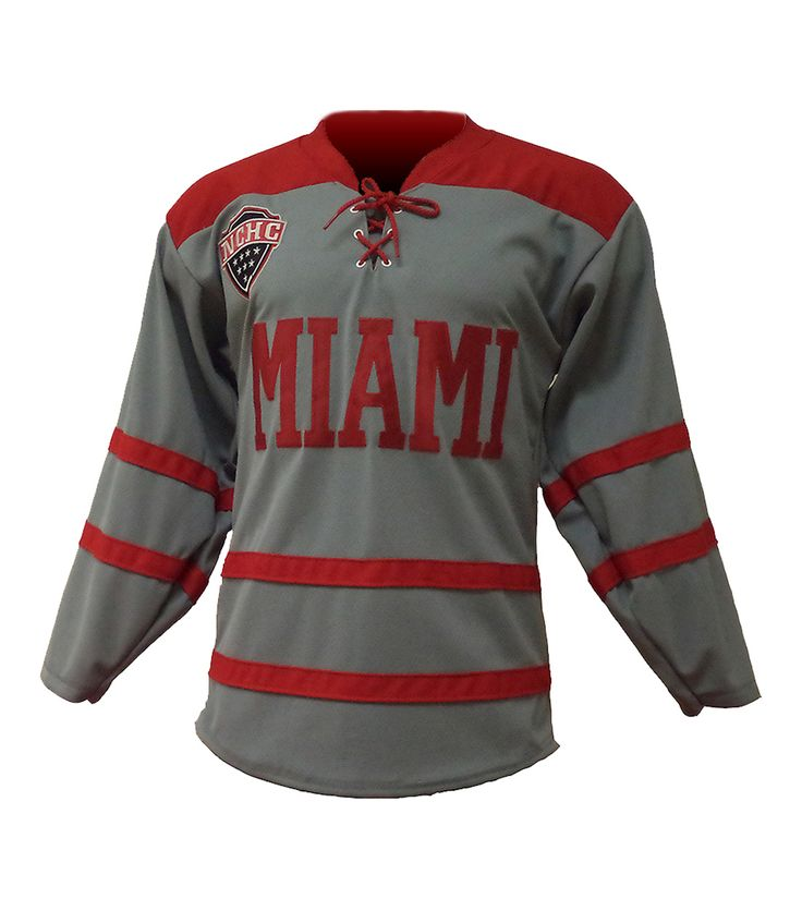 Gray Miami University Hockey Jersey