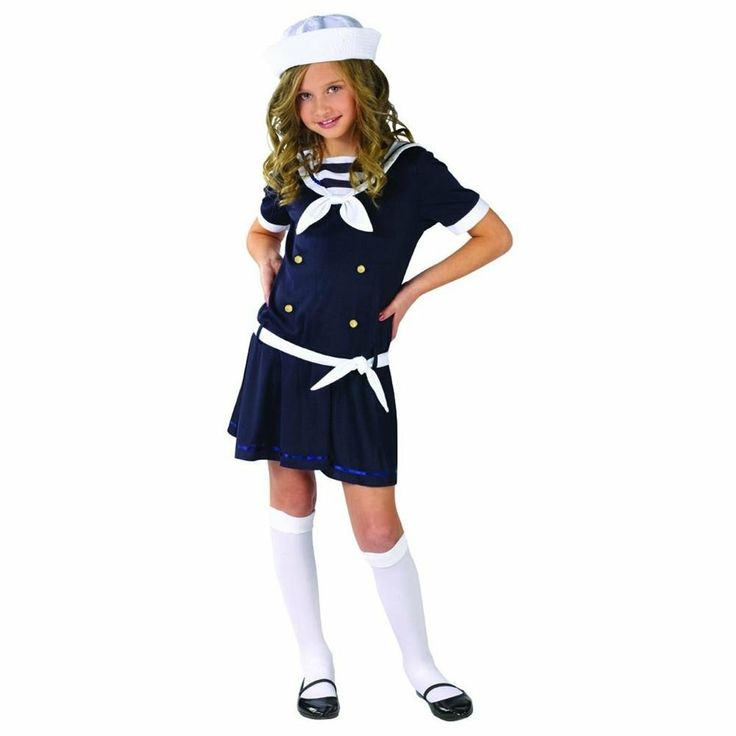 Nautical Theme Party Costume Ideas Part - 18: Sailor Girl Costume Sea Sweetie Sailor Costume For Kids