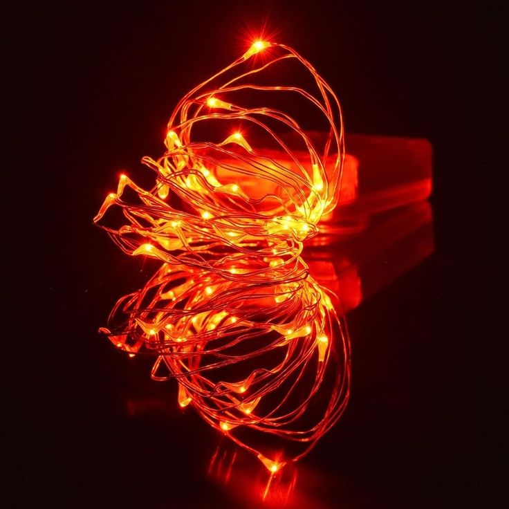 Halloween Orange lights, Amazlab 3m/10ft Soft Copper Wire Twine Micro Orange LED #Amazlab #Party