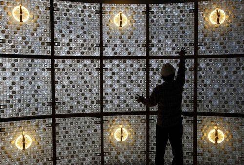 taipei ecoark - building made of polli bricks [plastic bottles]