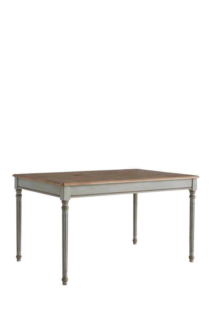 """Köksbord av gummiträ och fanér. Stl 140x95 cm. Höjd 79 cm. Lev. omonterad. Vikt 32 kg. Läs om fraktavgiften under fliken """"Leverans""""."""