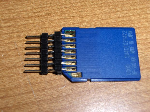 Cheap DIY SD card breadboard socket. If the SD card is a mini or micro ADAPTER... Even better!
