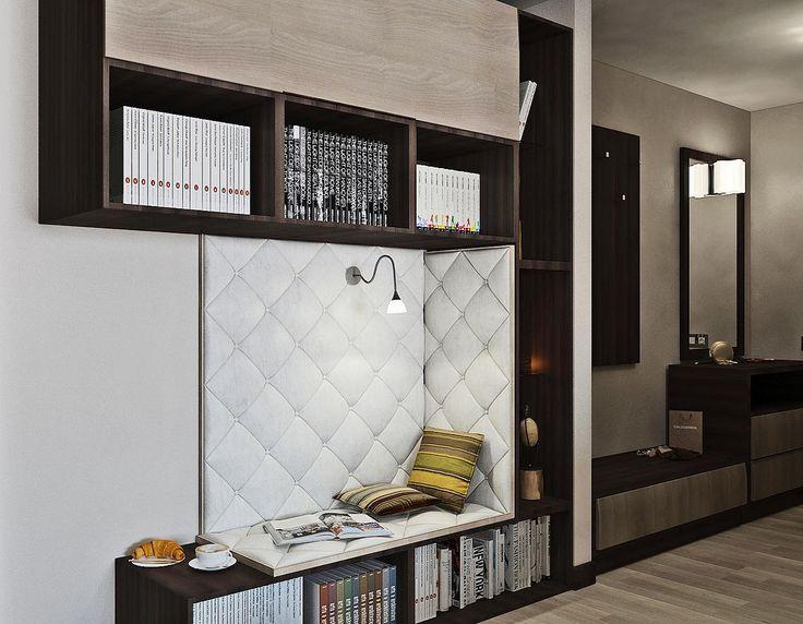 Дизайн интерьера квартиры Небольшая библиотека