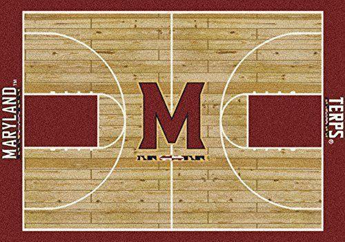 Maryland College Home Basketball Court Rug: 54x78 by Millilken. Maryland College Home Basketball Court Rug: 54x78.