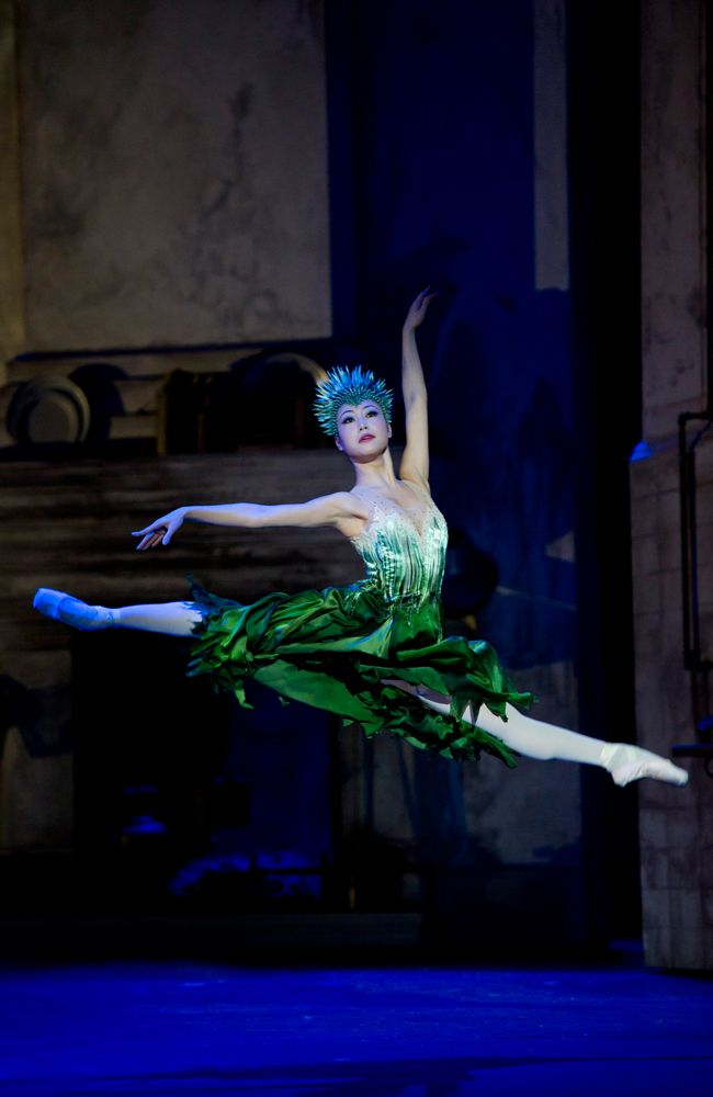 "I JUST LOVE THIS ONE_ SO WILD_ Momoko Hirata as Spring in ""Cinderella"" (Birmingham Royal Ballet). Photo: Bill Cooper"
