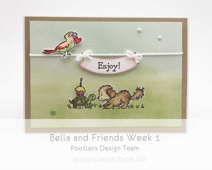 Pootlers Design Team – Bella and Friends Week 1 - anna's paperbox