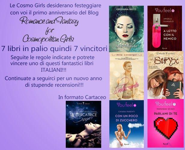 Romance and Fantasy for Cosmopolitan Girls: Buon Compleanno Blog!!