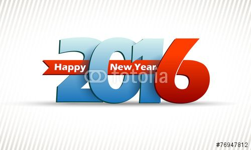 Vektor: happy new 2016 year