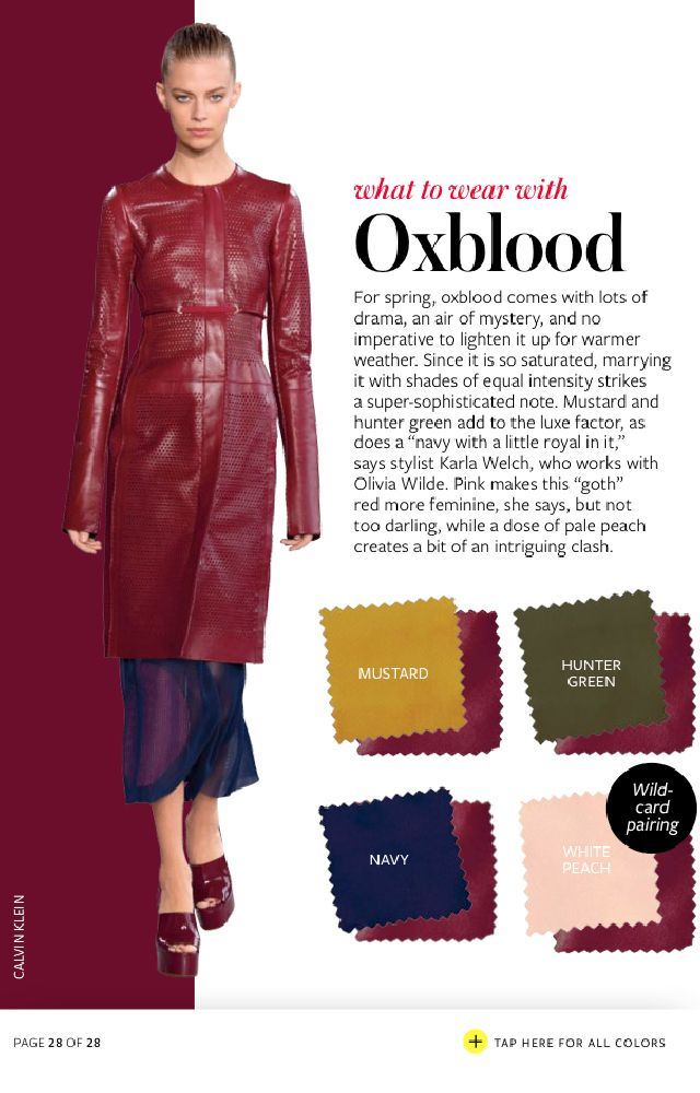 What To Wear With Every Color Spring 2015 - The Key Item #trends #colortrend