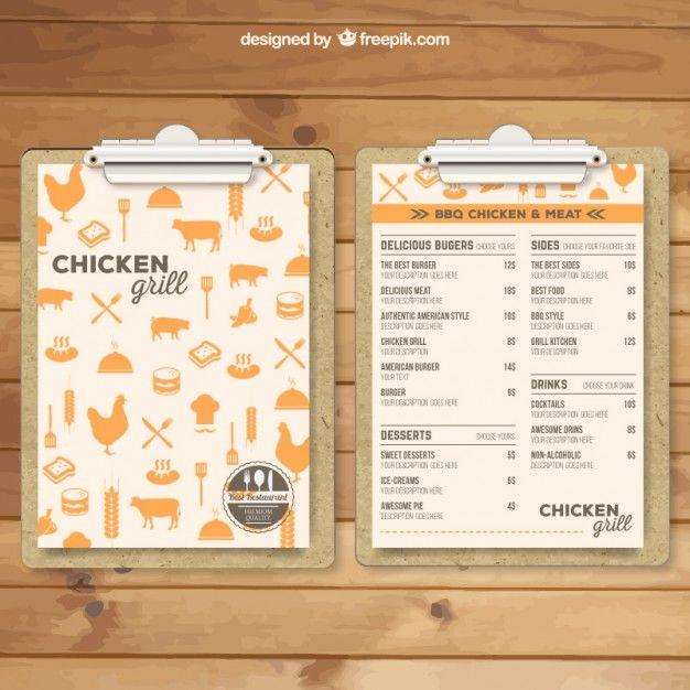modèle de menu de Grill                                                                                                                                                                                 Plus
