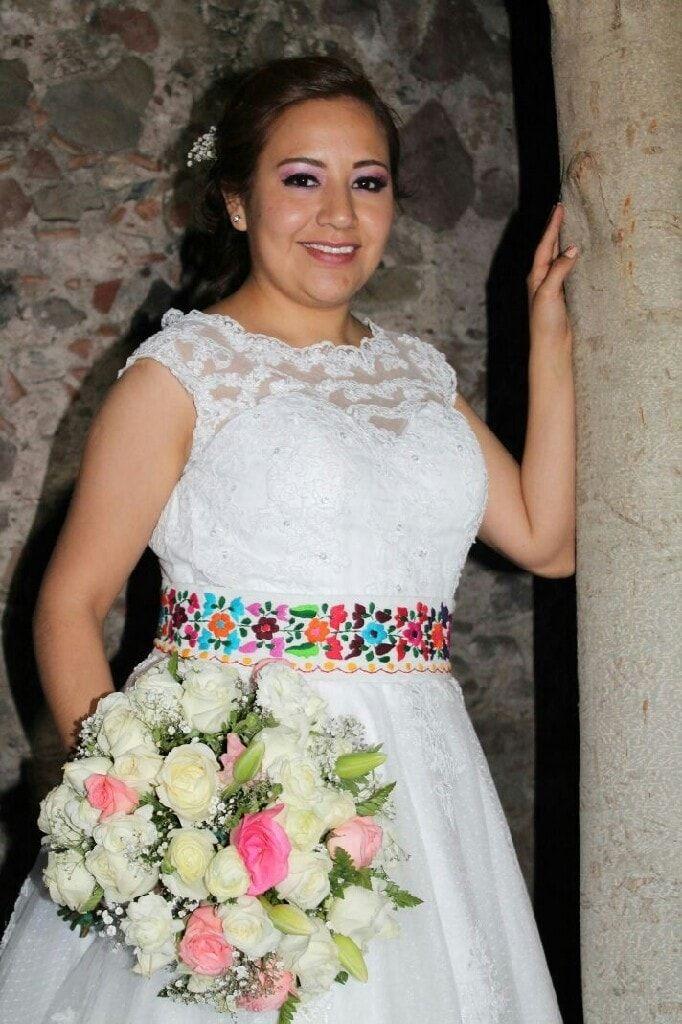 Vestido novia toques mexicanos - 1