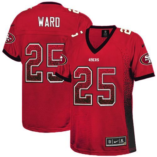 $24.99 Nike Limited Jimmie Ward Red Women's Jersey - San Francisco 49ers #25 NFL Drift Fashion