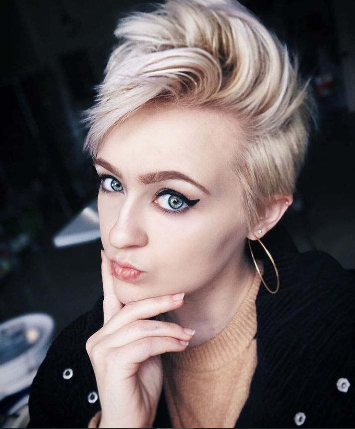 58 Hottest Shaved Side Short Pixie Haircuts Ideas For Woman In 2019 – Page 55 of 58