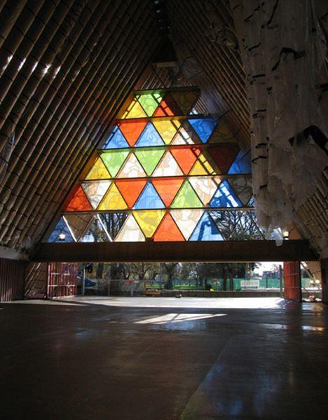 Cardboard Cathedral, by 2014 Pritzker laureate Shigeru Ban
