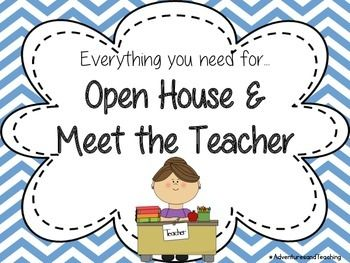 This set includes a welcome sign and numbered signs to use for meet the teacher…