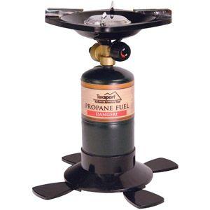 Texsport Single Burner Propane Stove, Uses 16.4 or 14.1 oz