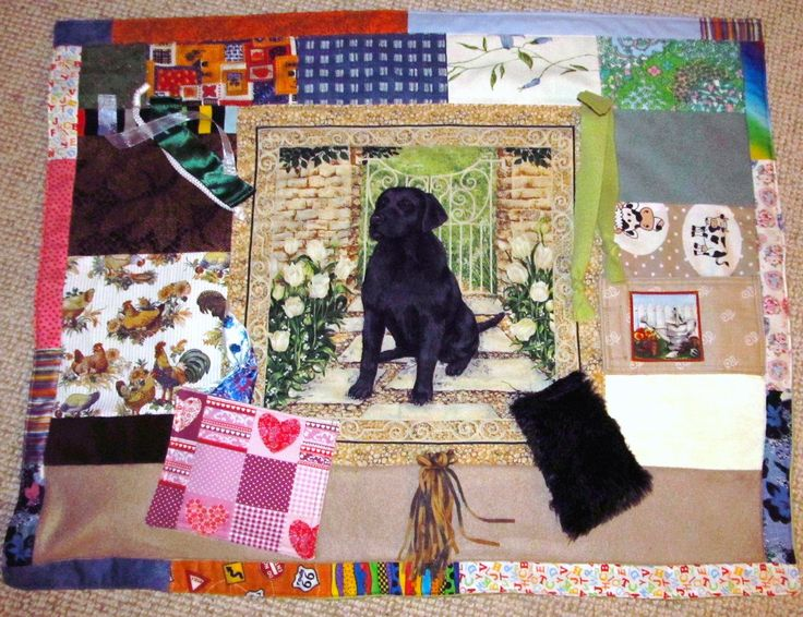 A doggy twiddle blanket