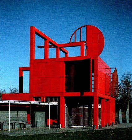 bernard tschumi parc de la vilette in paris 1982 1990 design d 39 espace installations. Black Bedroom Furniture Sets. Home Design Ideas