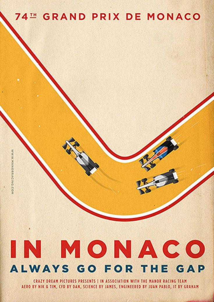 Poster - Manor Racing - Monaco
