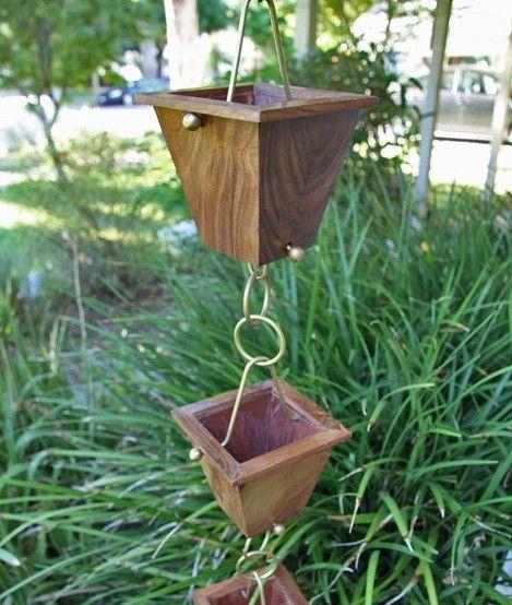 how to make rain chain cups