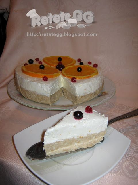 Retete gustoase si garnisite: Cheesecake cu portocale (fara coacere)