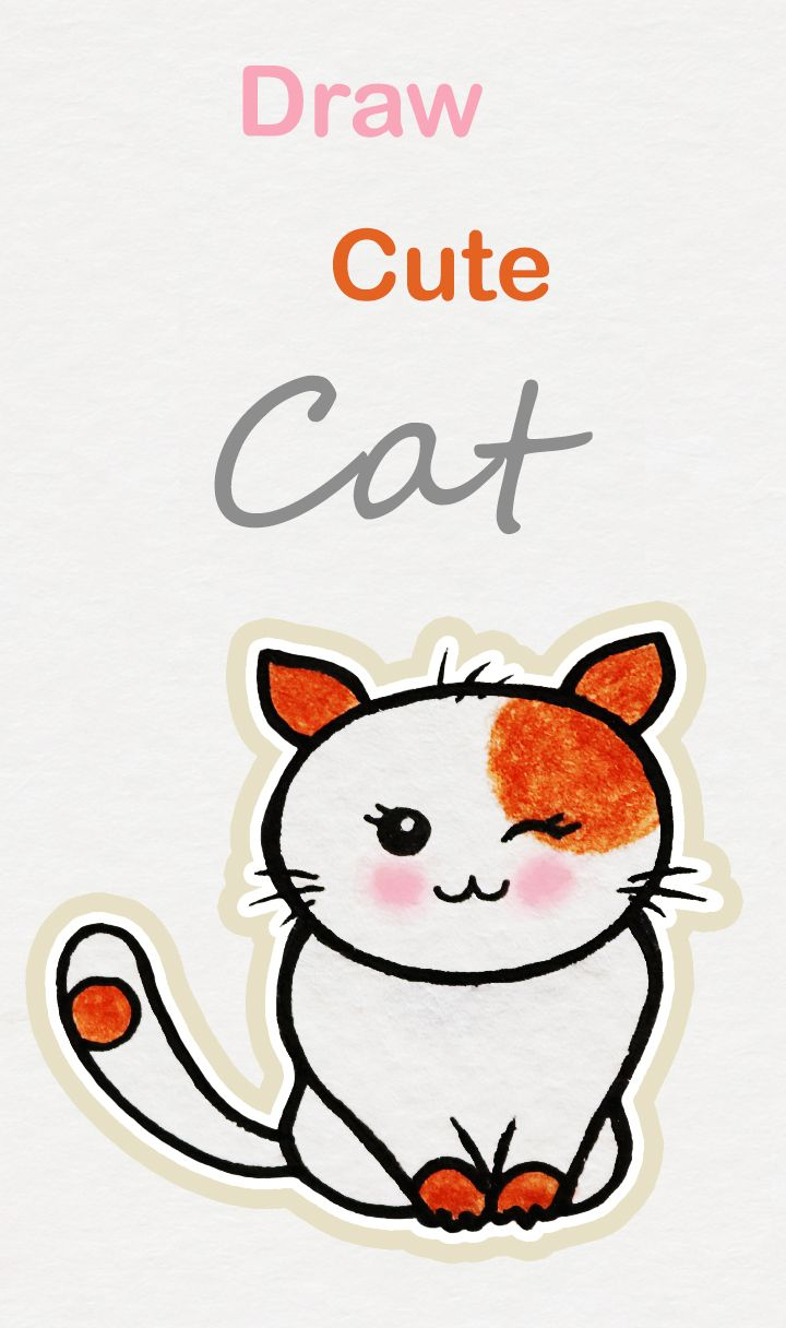 Learn How To Draw So Cute Cat Easy Step By Step Kawaii Tutorial