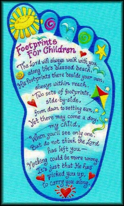 Footprints Poem For Kids Children Ministry Ideas