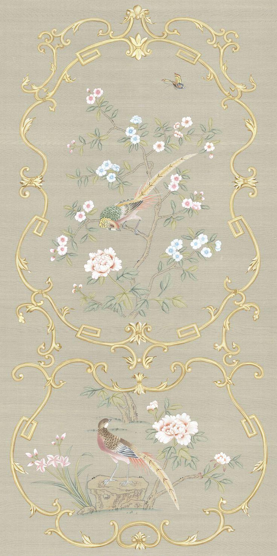 Chinoiserie Chinoiserie wallpaper, Wall art designs