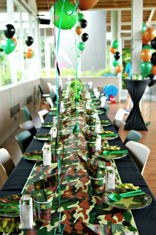 Pin On Camouflage Military Themed Party