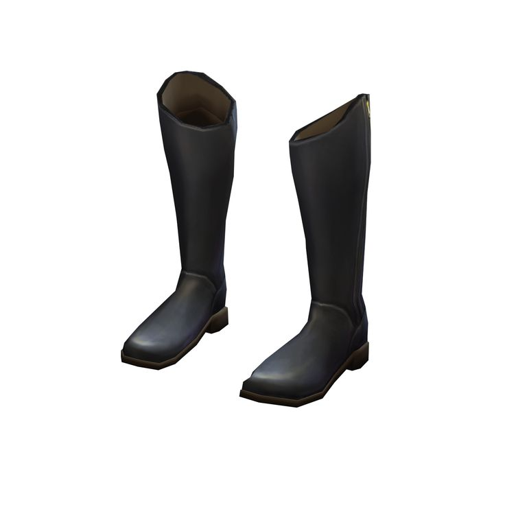 Long black boots go with everything and keep feet and shins cozy in chilly conditions.