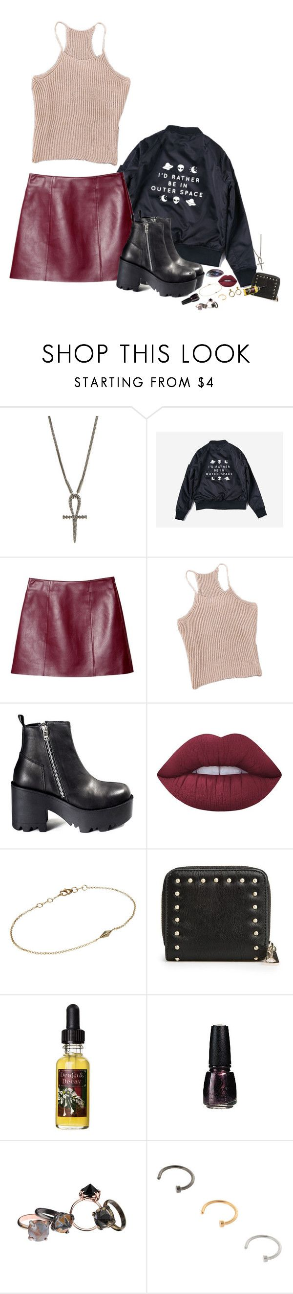 """""""Promise me a place in your house of memories"""" by oblivionsgarden ❤ liked on Polyvore featuring Lynn Ban, T By Alexander Wang, UNIF, Lime Crime, Deborah Pagani, MANGO, Amy Winehouse, ULTA and Made Her Think"""