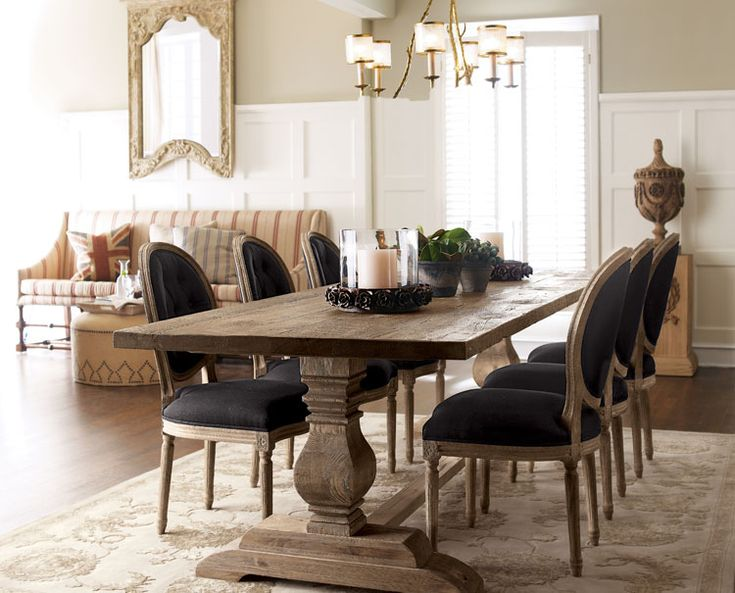 Rug Rules Trestle Table Furniture And Ottomans