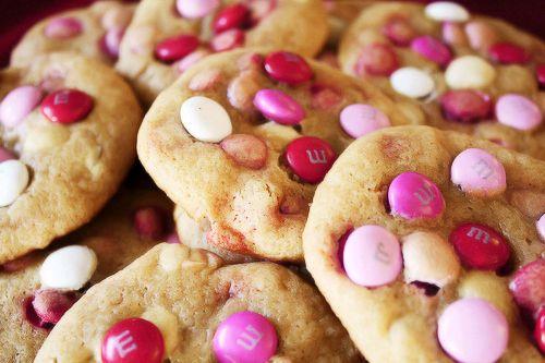 Pink M cookies