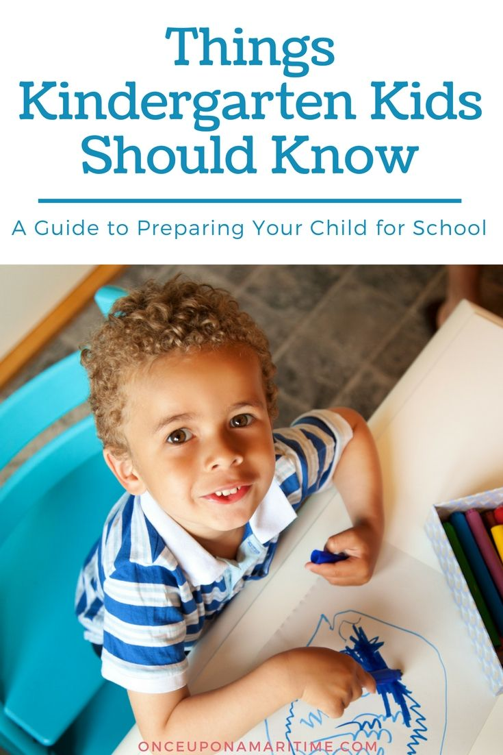 Have a child headed to Kindergardten here are things Kindergarten Kids Should Know.