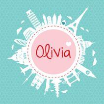 Wereld - Olivia #geboortekaartje