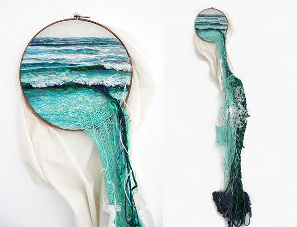Bordado mar sea window